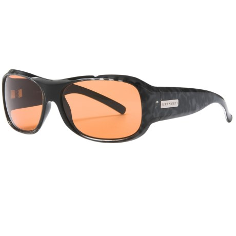 Serengeti Savona Sunglasses - Photochromic in Black/Leopard/Drivers