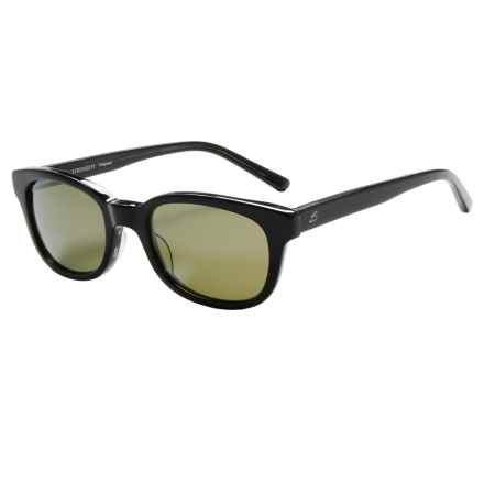 Serengeti Serena Sunglasses - Polarized Glass Lenses in Black Grey Tortoise Lam/555Nm - Closeouts