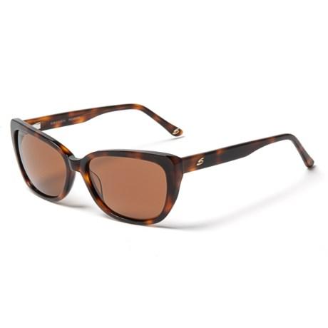 Serengeti Sophia 6 Base Sunglasses - Polarized, Photochromic (For Women) in Shiny Caramel Tortoise