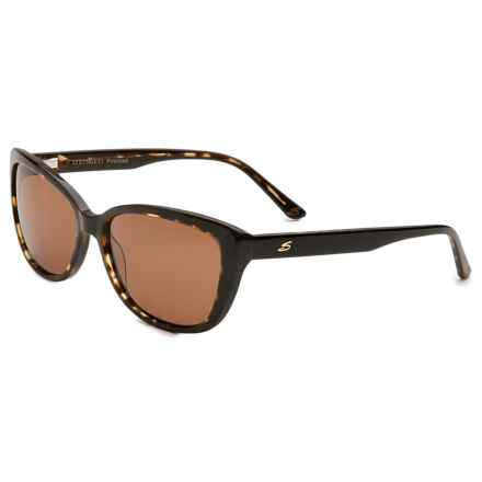 Serengeti Sophia 6 Base Sunglasses - Polarized, Photochromic (For Women) in Tortoise Black/Brown Polar Drivers - Overstock