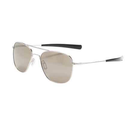 Serengeti Sortie FOH Sunglasses - Photochromic, Glass Lenses in Shiny Silver/555Nm - Closeouts