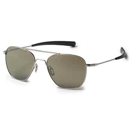 Serengeti Sortie Sunglasses - Polarized, Photochromic Glass Lenses in Shiny Silver/Photochromic 555Nm - Closeouts