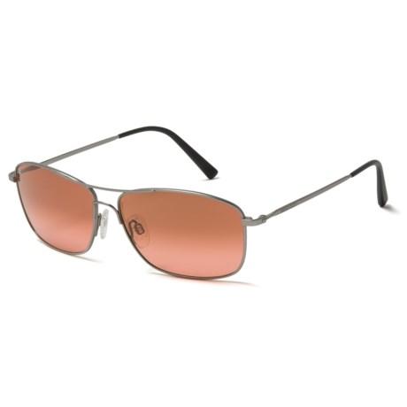 Serengeti Sunglasses - Photochromic Glass Lenses in Satin Titanium