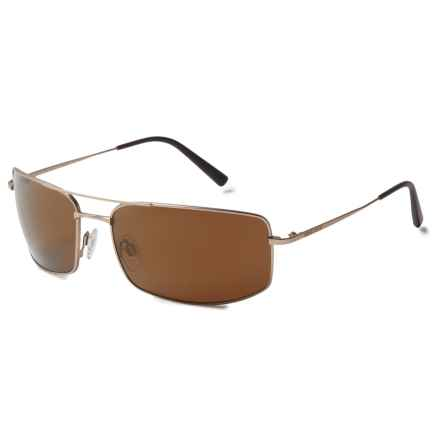 Serengeti Treviso Sunglasses - Polarized, Photochromic Glass Lenses in Satin Soft Gold/Polarized Driver Gold - Closeouts