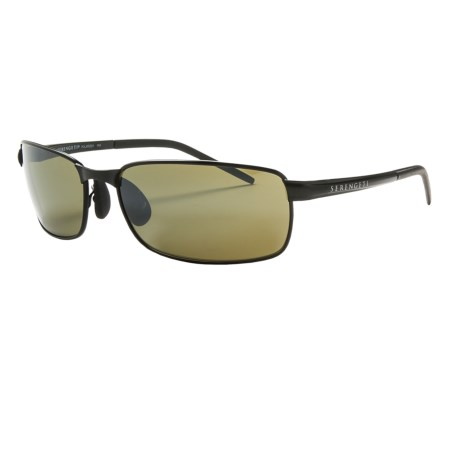 Serengeti Vento Sunglasses - Polarized, Photochromic Glass Lenses in Satin Black/555Nm