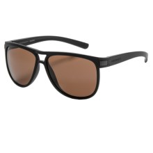 Serengeti Verdi Sunglasses - Polarized, Photochromic Glass Lenses in Sanded Black/Drivers - Closeouts