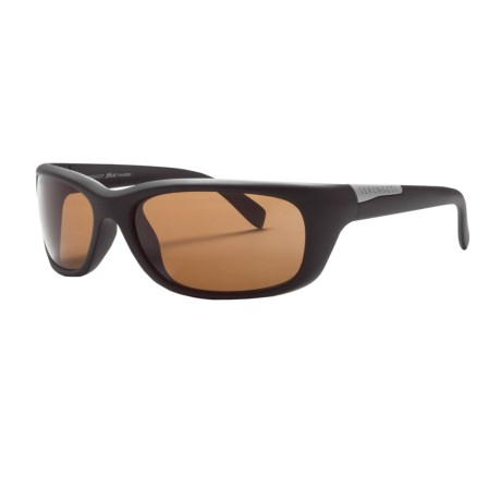 Serengeti Verucchio Sunglasses - Polarized, Photochromic, Polar PhD Lenses in Satin Black/Phd Driver