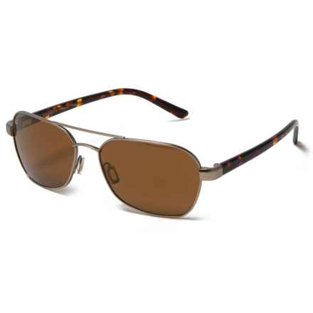 Serengeti Volterra Sunglasses - Polarized Photochromic Glass Lenses in Satin Gold Dark Tortoise/Drivers Gold Mirror - Closeouts