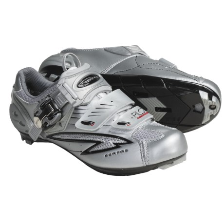 Serfas Pilot Road Cycling Shoes (For Men) in Silver