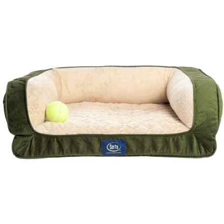 "Serta Mini-Couch Pet Bed - 24x20"" in Orvis Green - Closeouts"