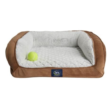 "Serta Mini-Couch Pet Bed - 24x20"" in Tan"