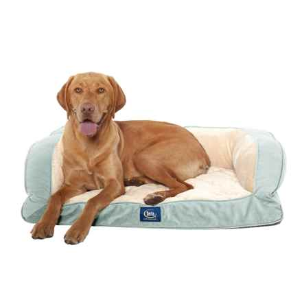 "Serta Orthopedic Couch Dog Bed- 39x29"" in Blue - Closeouts"