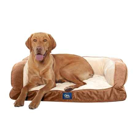 """Serta Orthopedic Couch Dog Bed- 39x29"""" in Camel - Closeouts"""