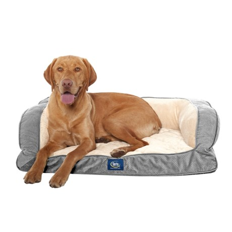 Serta Orthopedic Couch Dog Bed  39x29u201d In Charcoal