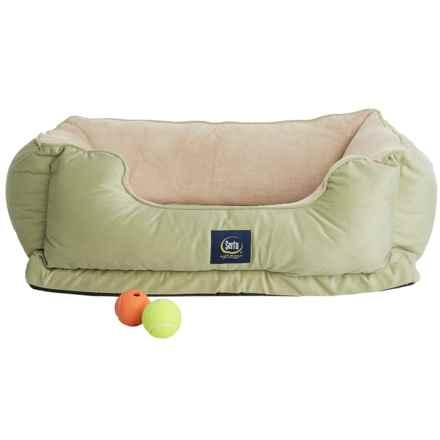 Serta Orthopedic Cuddler Dog Bed in Sage - Closeouts