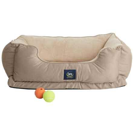 Serta Orthopedic Cuddler Dog Bed in Tan - Closeouts