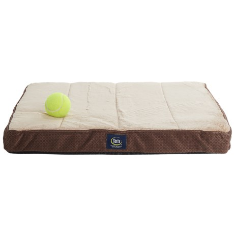 "Serta Orthopedic Foam Crate Mat - Small, 18x23"" in Mocha"