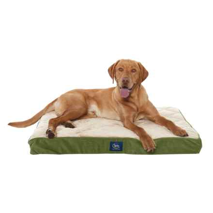 """Serta Orthopedic Quilted Pillow-Top Dog Bed - 36x27"""" in Orvis Green - Closeouts"""