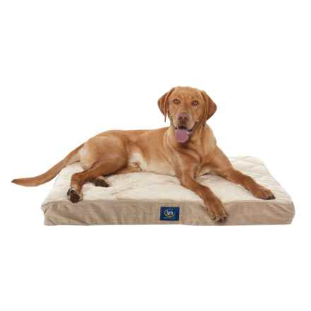 "Serta Orthopedic Quilted Pillow-Top Dog Bed - 36x27"" in Tan - Closeouts"