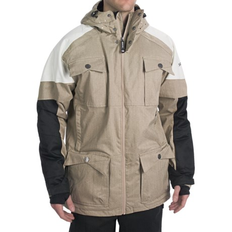 Sessions Ecto Jacket - Waterproof, Insulated (For Men) in Khaki