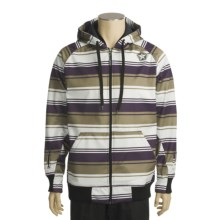 Sessions Retro Stripe Jacket - Soft Shell (For Men) in Purple - Closeouts