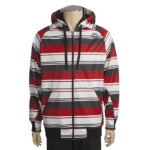 Sessions Retro Stripe Jacket - Soft Shell (For Men) in Red - Closeouts