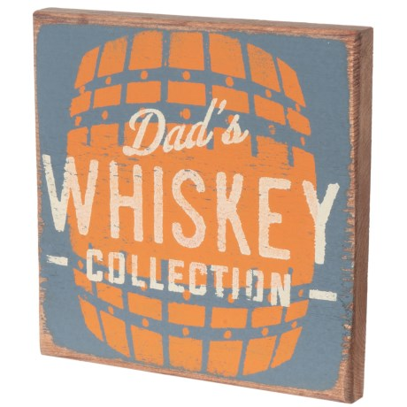 "Seven Anchor Designs ""Dad's Whiskey Collection"" Sign - 10x10"" in Granite Peak"