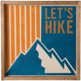 "Seven Anchor Designs ""Lets Hike"" Wooden Tray - 22x22"""