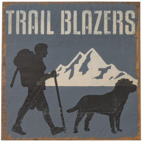 "Seven Anchor Designs ""Trail Blazers"" Wooden Sign - 10x10"" in Granite Peak"