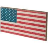 "Seven Anchor Designs 12x22"" American Flag Wooden Sign"