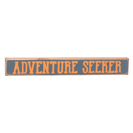 "Seven Anchor Designs 20x3"" ""Adventure Seeker"" Sign in Granite Peak"