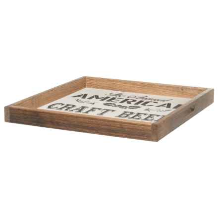 """Seven Anchor Designs 22x22"""" American Craft Beer Festival""""Tray in Black/White - Closeouts"""