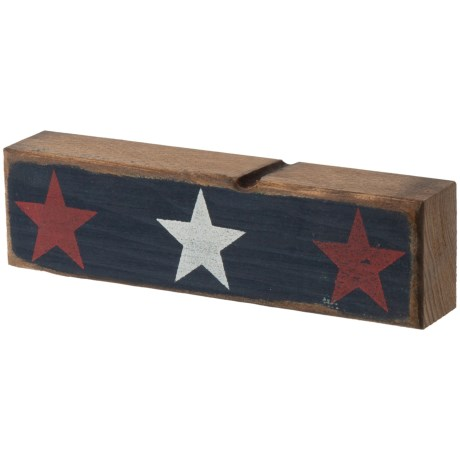 """Seven Anchor Designs 3x10"""" Red, White and Blue Sign in Navy"""