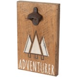 "Seven Anchor Designs Mountains ""Adventurer"" Sign with Bottle Opener - 12x7.5"""