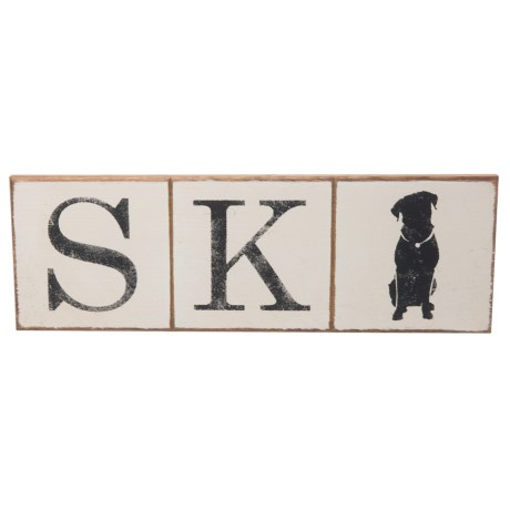 Image of Seven Anchor Designs Pet Lovers? Ski Wooden Sign - 10x30?