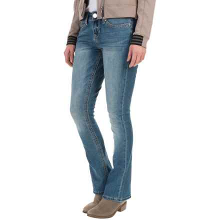 Seven7 Big Stitch Rocker Jeans - Slim Fit, Bootcut (For Women) in Herm - Closeouts