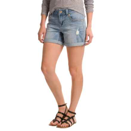 """Seven7 Destroyed Rolled Shorts - 5""""  (For Women) in Dana Point - Closeouts"""