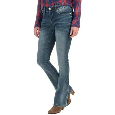 Seven7 Embroidered Fleur Flap Pocket Jeans - Bootcut (For Women) in Giza - Closeouts