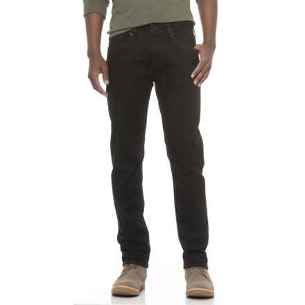 Seven7 Five-Pocket Slim Fit Rinse Jeans (For Men) in Black - Closeouts