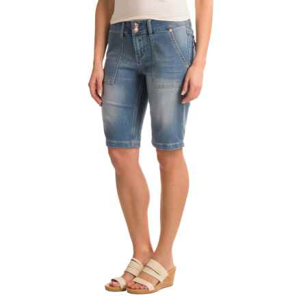 "Seven7 Flap Pocket Shorts - 11"" (For Women) in Verona - Closeouts"