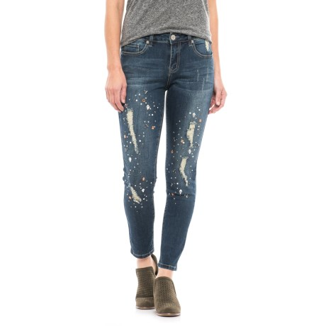 Seven7 Over-the-Top Embellished Ankle Jeans - Skinny Fit (For Women) in Astraios