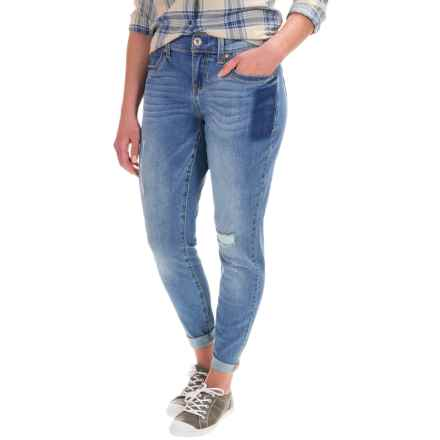 Seven7 Patches Girlfriend Jeans (For Women) in Lark - Closeouts