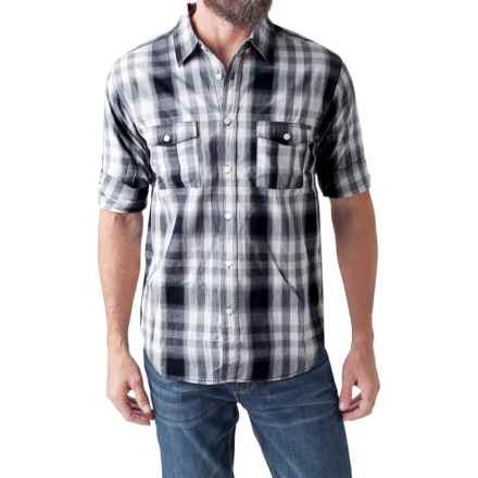 Seven7 Printed Shirt - Roll-Up Long Sleeve (For Men) in Black/Charcoal/White - Closeouts