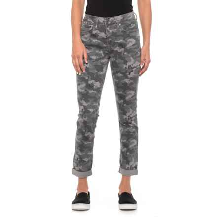Seven7 Quiet Shade High Rise Camo Jeans - Slim Straight (For Women) in Quiet Shade - Closeouts