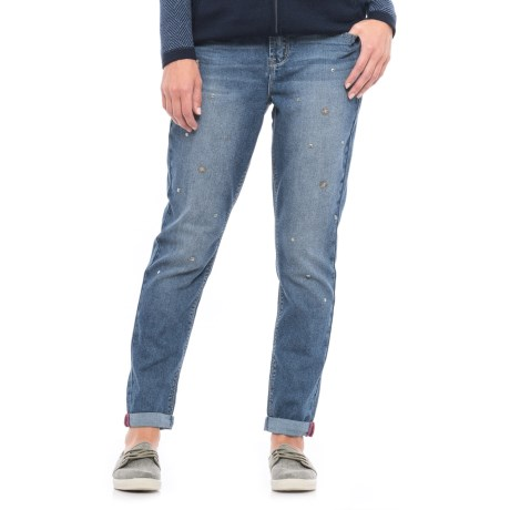 Seven7 Star-Studded Girlfriend Jeans - High Rise (For Women) in Creon