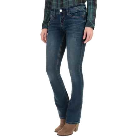 Seven7 Stud & Stone Knit Jeans - Slim Fit, Bootcut (For Women) in Frost - Closeouts