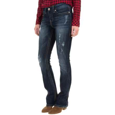 Seven7 Thick Stitch Jeans - Slim Fit, Bootcut (For Women) in Maryse - Closeouts
