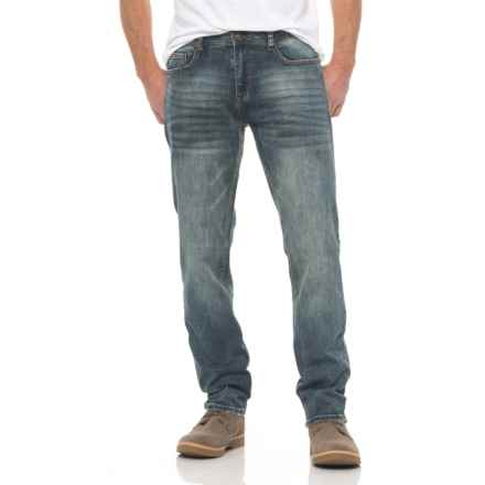 Seven7 Tint Slim Fit 4-Way Stretch Jeans (For Men) in Brown Tint Blue - Closeouts