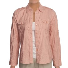 Shadow Stripe Shirt - Cotton, Long Sleeve (For Women) in Pink - 2nds