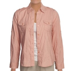 Shadow Stripe Shirt - Cotton, Long Sleeve (For Women) in Pink